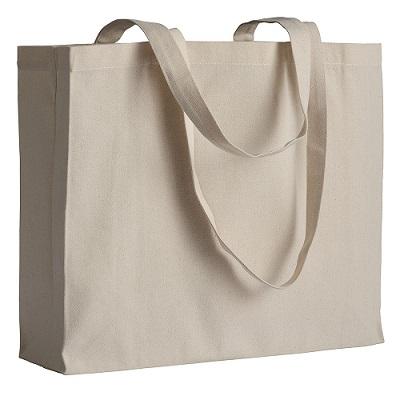 acf6fd2bc3c Οικολογική πάνινη τσάντα χειρός με πιέτα eco bags 100% βαμβάκι 220γρ