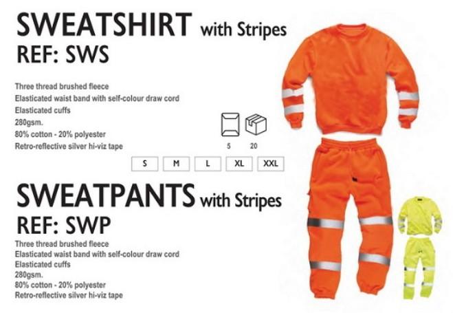 6e2eef8501b6 Μπλούζα και παντελόνι με φωσφοριζέ λωρίδες — ΠΡΟΒΟΛΗ Advertising Gift Store