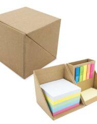 Κύβος γραφείου οικολογικός με Post-It και χαρτιά σημειώσεων