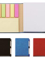 Σημειωματάριο οικολογικό με στυλό και POST-IT σε 3 χρώματα